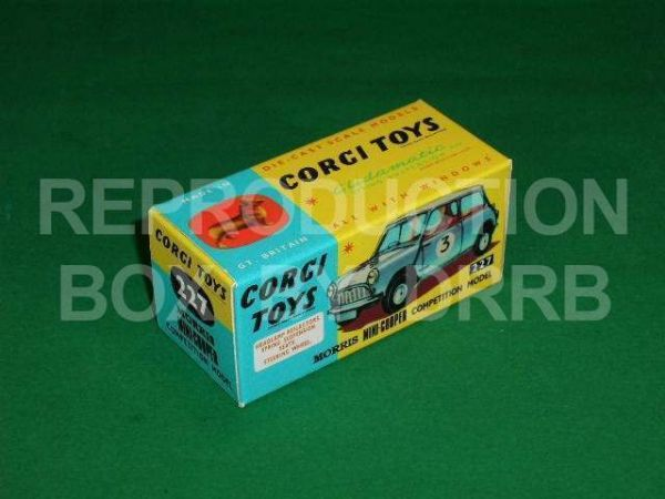 Corgi #227 Mini-Cooper Competition - Reproduction Box